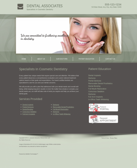 Cosmetic Dentistry Website Preview #16