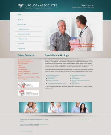 Urology Website Preview #17