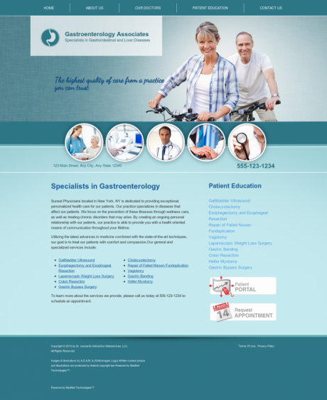Gastroenterology Website Preview #16