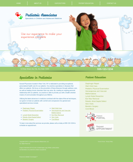 Pediatrics Website Preview #18