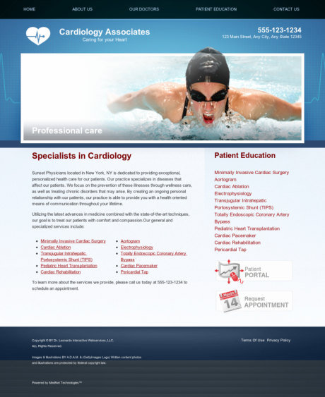 Cardiovascular Website Preview #15