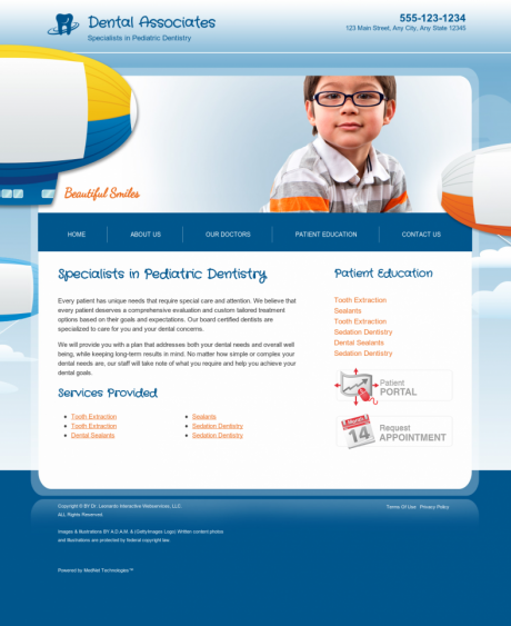 Pediatric Dentistry Website Preview #17