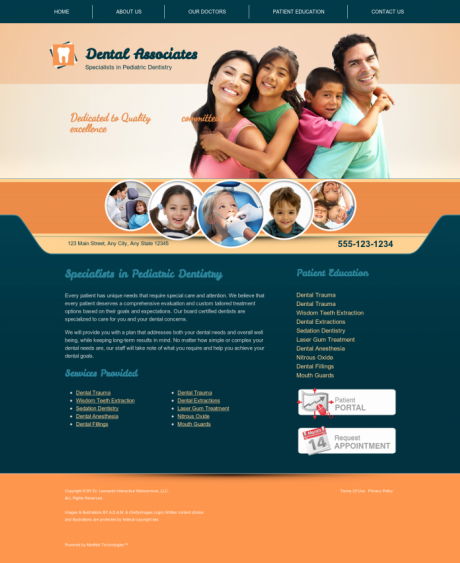 Pediatric Dentistry Website Preview #7