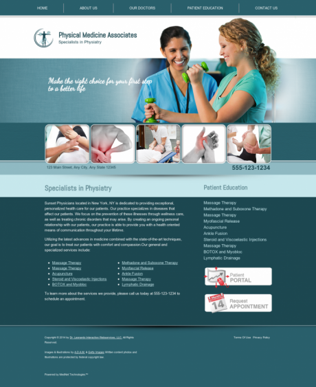 Physical Medicine Website Preview #14