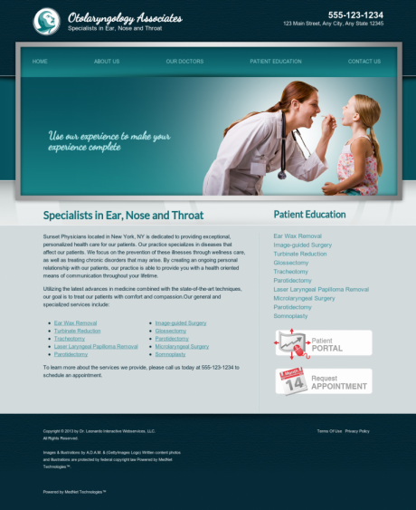 Otolaryngology Website Preview #18