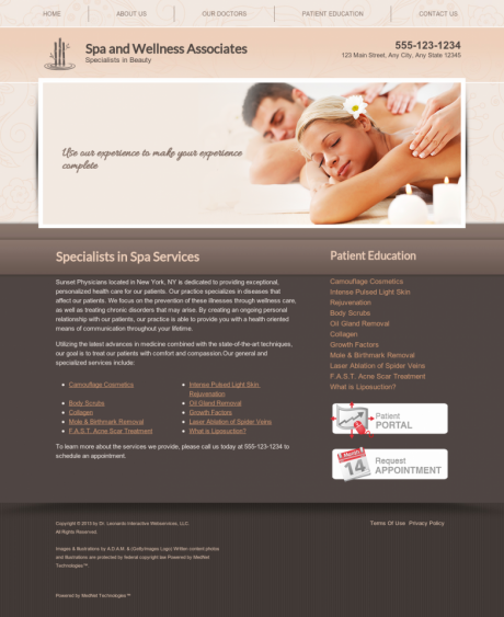 Dermatology Website Preview #1
