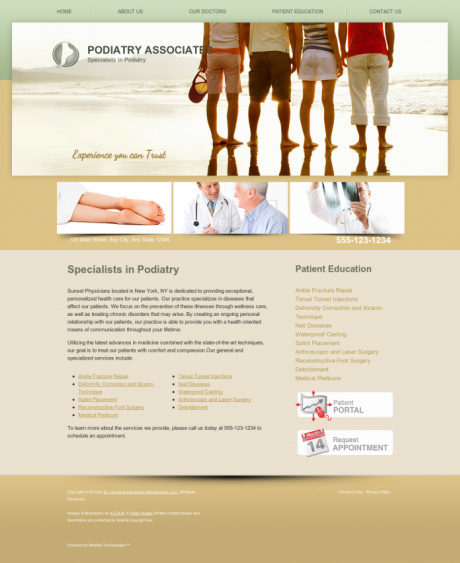Podiatry Website Preview #1