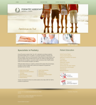 Podiatry Website Thumbnail #1