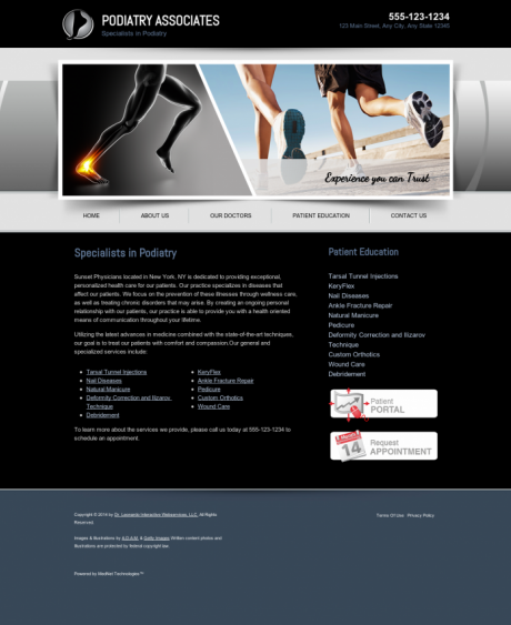 Podiatry Website Preview #5