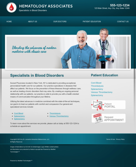 Hematology Website Preview #18