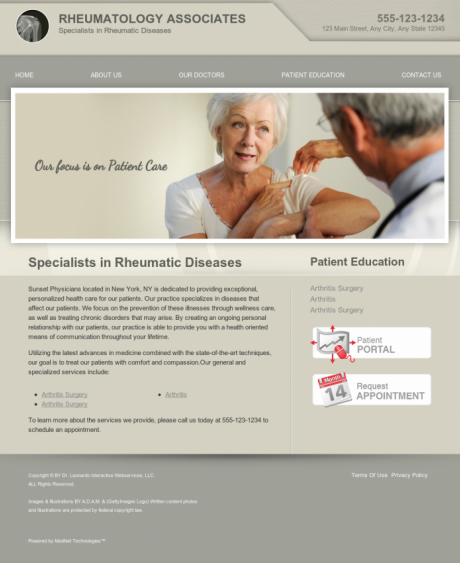 Rheumatology Website Preview #6
