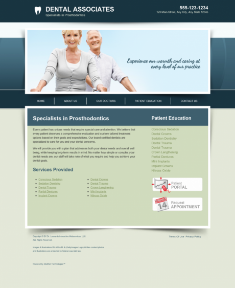 Prosthodontics Website Preview #15