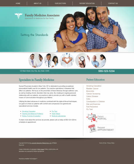 Family Medicine Website Preview #1