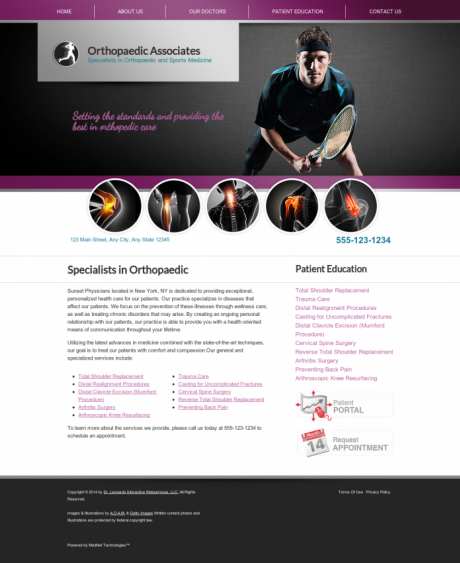 Orthopaedic Website Preview #15