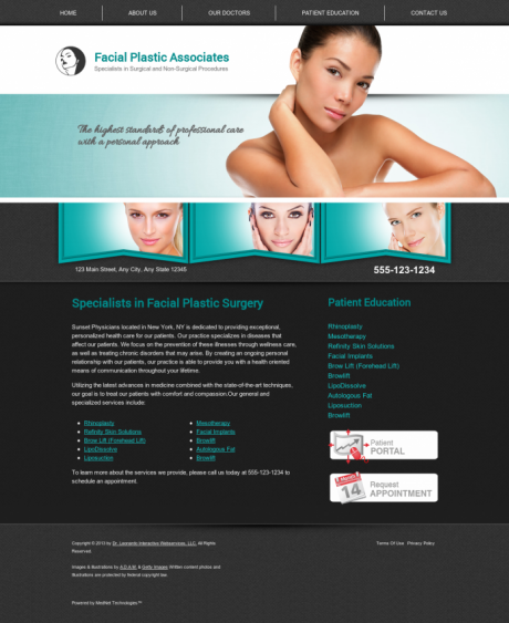 Facial Plastic Surgery Website Preview #13