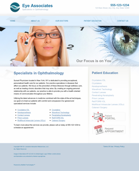 Ophthalmology Website Preview #13
