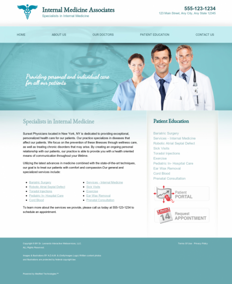 Internal Medicine Website Preview #17