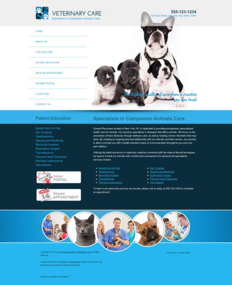 Veterinary Website Preview #9