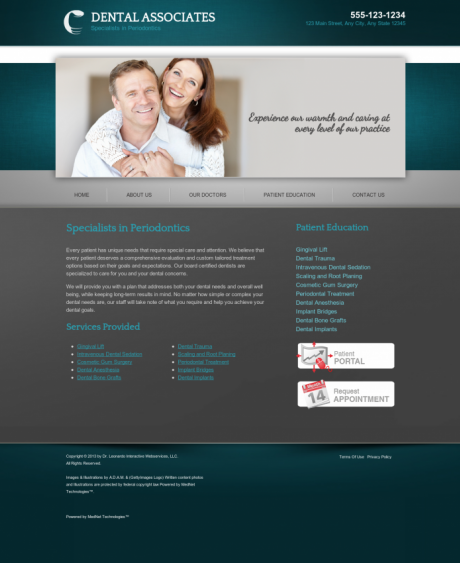 Periodontics Website Preview #17