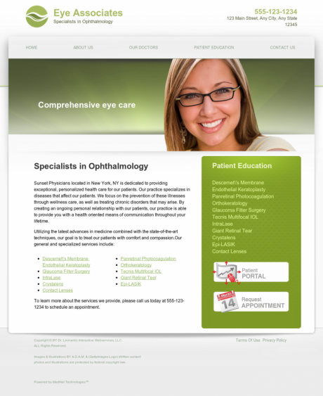 Ophthalmology Website Preview #15
