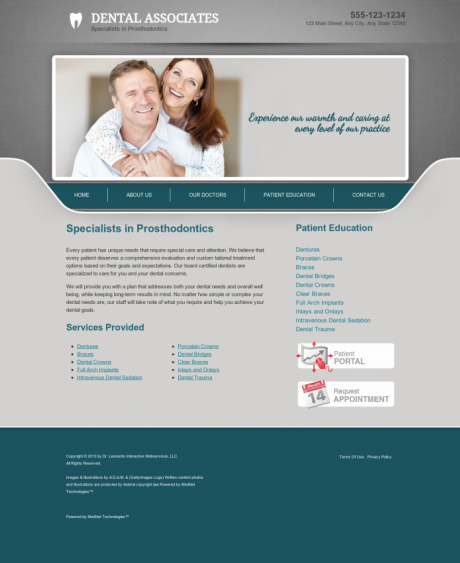 Prosthodontics Website Preview #16