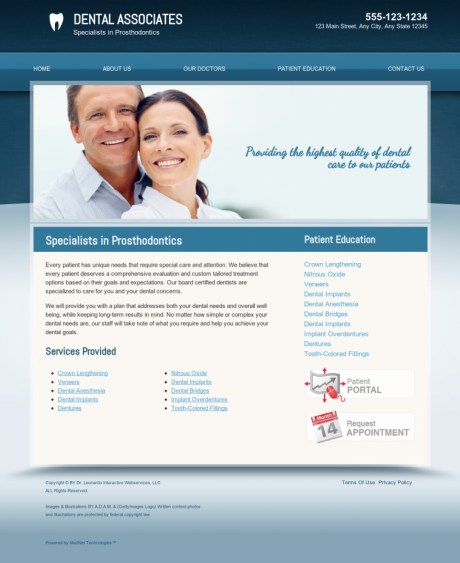 Prosthodontics Website Preview #17