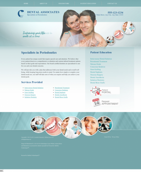 Periodontics Website Preview #18