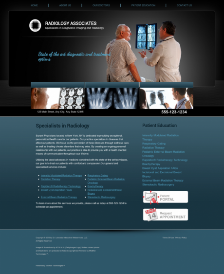 Radiology Website Preview #18
