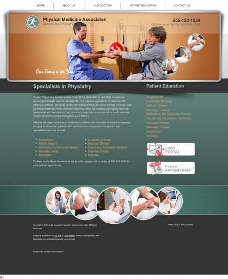 Physical Medicine Website Preview #17
