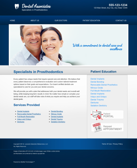 Prosthodontics Website Preview #18