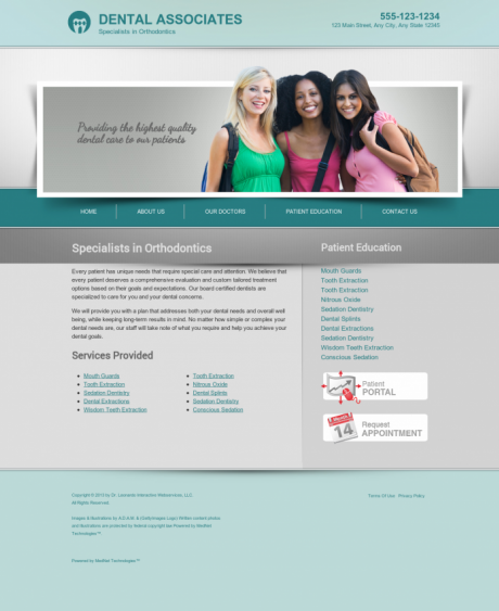 Orthodontics Website Preview #18