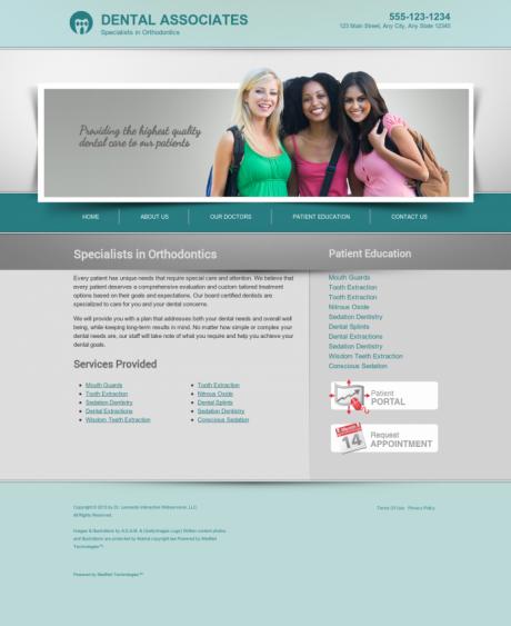 Orthodontics Website Preview #18