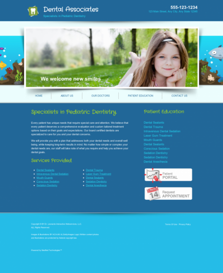 Pediatric Dentistry Website Preview #12