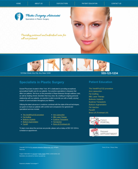 Plastic Surgery Website Preview #11