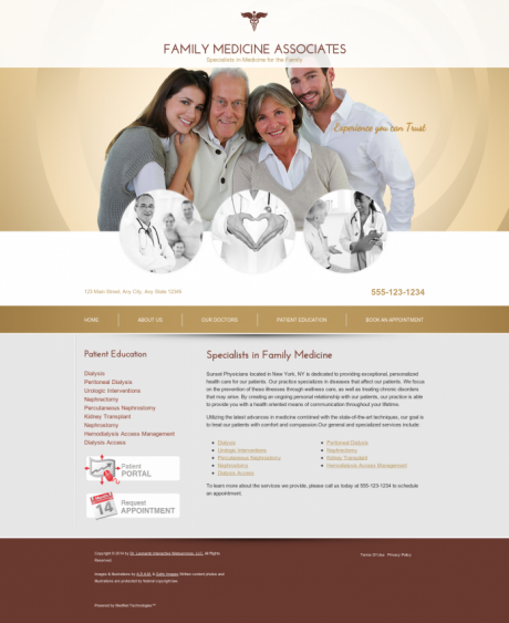 Family Medicine Website Preview #11