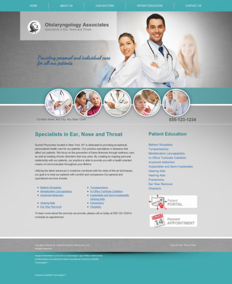 Otolaryngology Website Preview #15