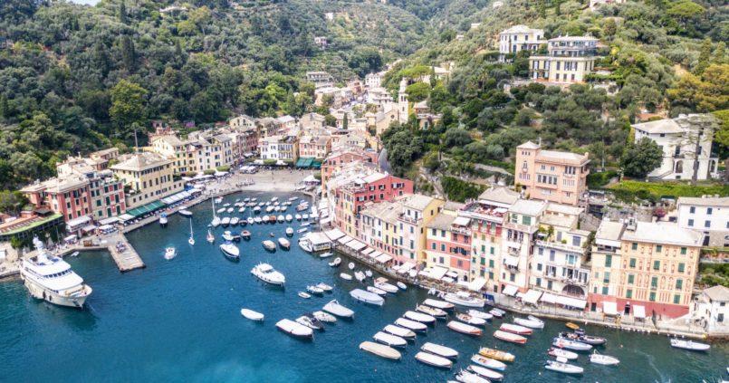 Portofino desde un drone