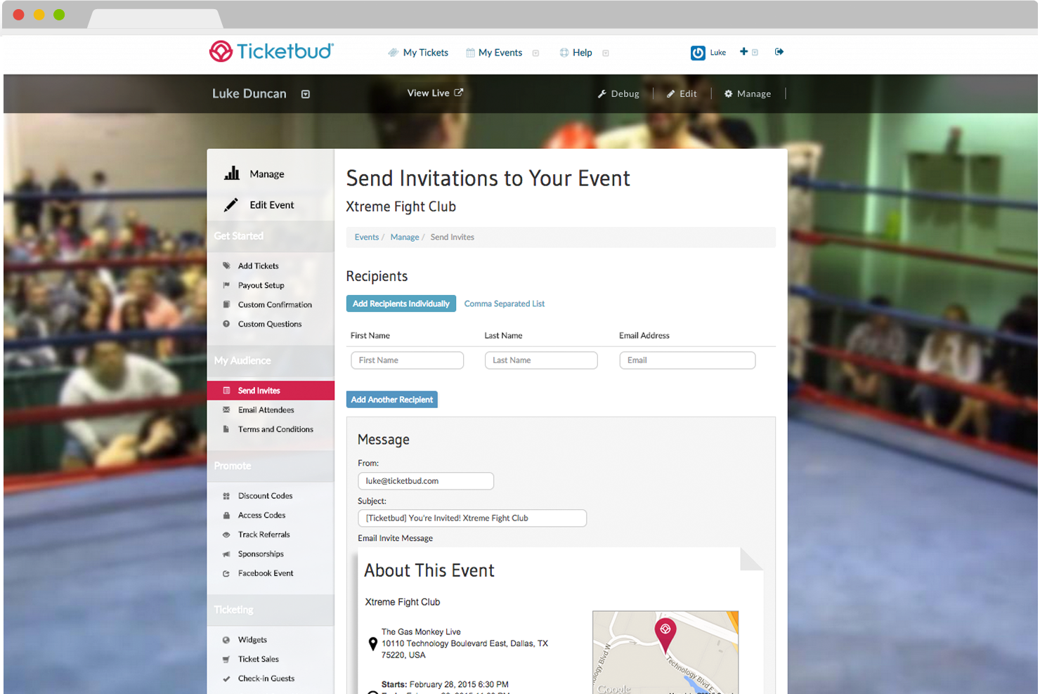 Sell tickets online free with Ticketbud's ticket sales software