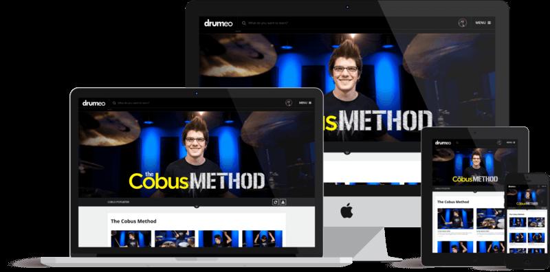 Drum lessons 15 dvds/ 5cds the cobus method original us set.