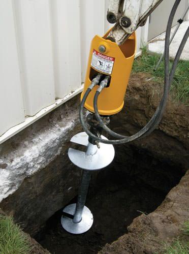 installing helical shafts