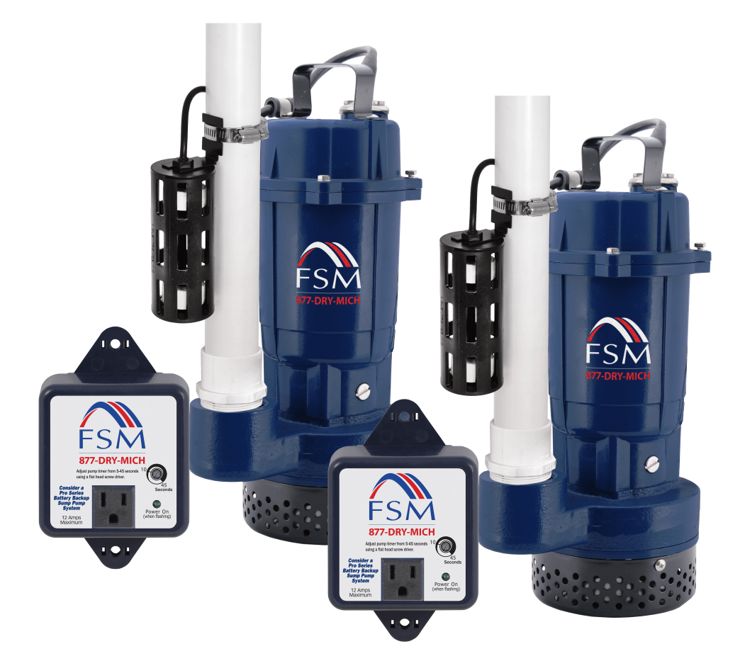 primary and secondary Elite 365 Sump Pump System