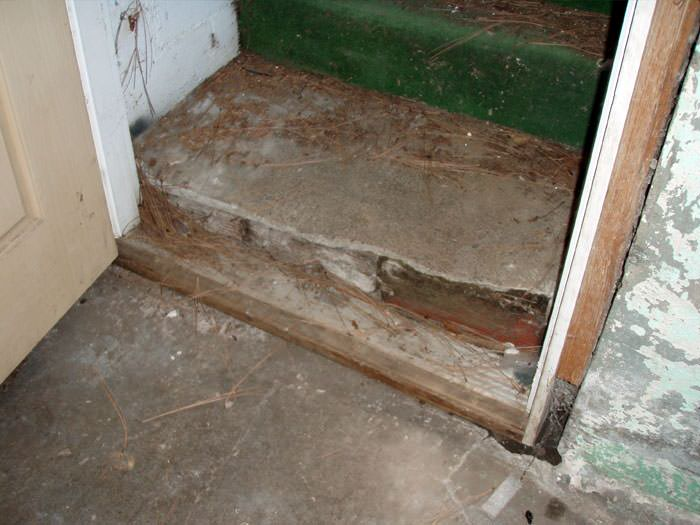 basement staircase damage from flood