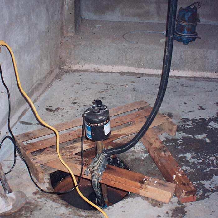 A Alpena sump pump system that failed and lead to a basement flood.