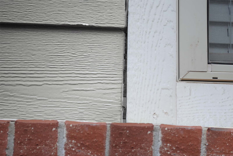 gaps in siding
