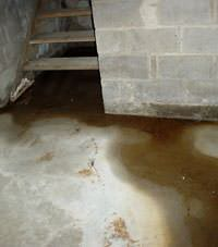 basement flooding from stairways