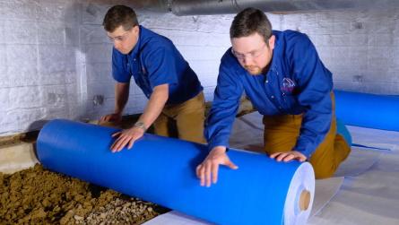 vapor barrier liner installation
