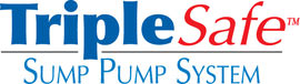 Sump pump system logo for our TripleSafe™, available in areas like Rogers City