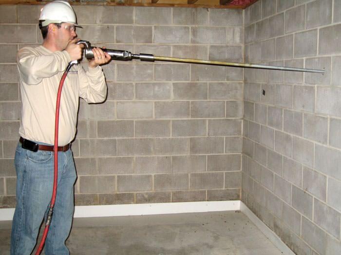 preparing foundation wall