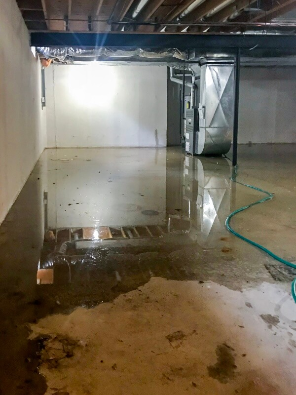 why the basement is flooding