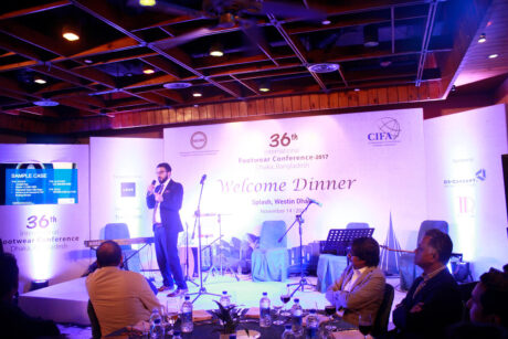 Presentation on financing for exporters at International Footwear Conference Bangladesh